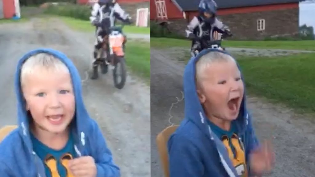 Boy Has Tooth Pulled Out By Motorbike