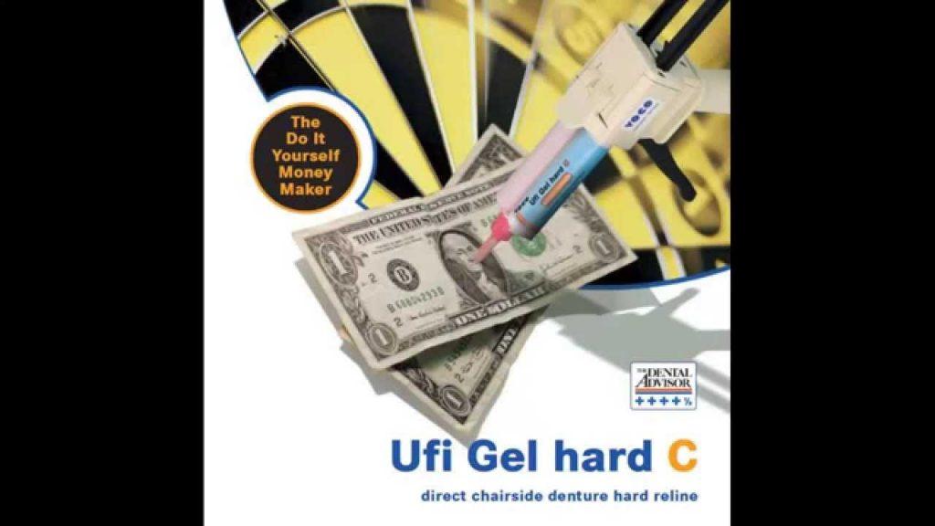 Ufi Gel hard C – hard direct denture reline in automix cartridge