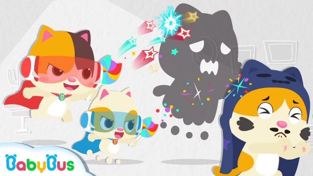 Little Heroes Chased Big Monster Away   Baby Kitten Family   Baby Cartoon   Halloween Song   BabyBus
