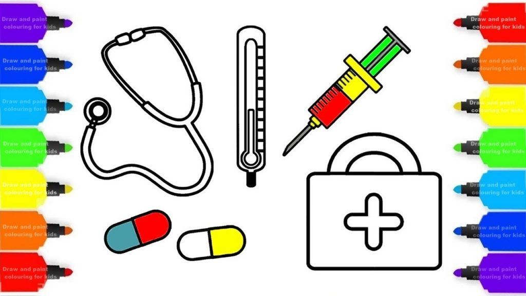 How To Draw Medical Kit For Doctor Baby Dental Care